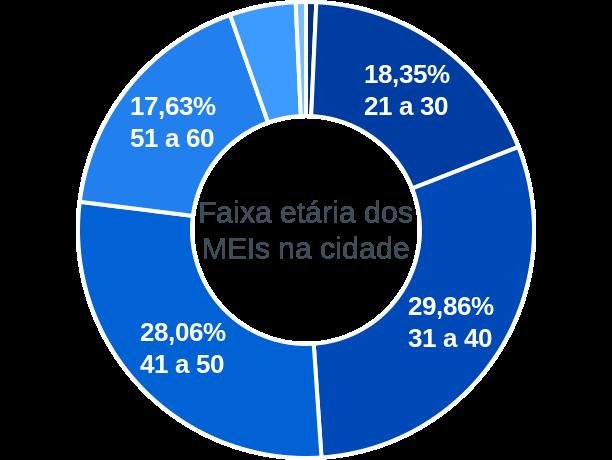 Faixa etária de MEIs na cidade de Leopoldo de Bulhões