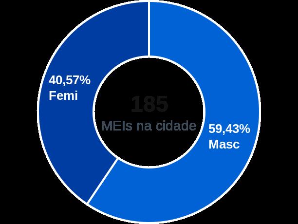 Gênero de MEIs na cidade de Monte Alegre de Goiás