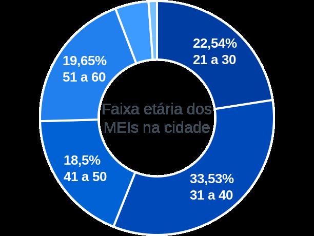Faixa etária de MEIs na cidade de Porteirão