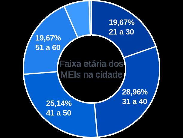 Faixa etária de MEIs na cidade de Portelândia