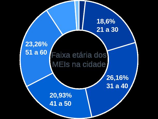 Faixa etária de MEIs na cidade de Santo Antônio da Barra