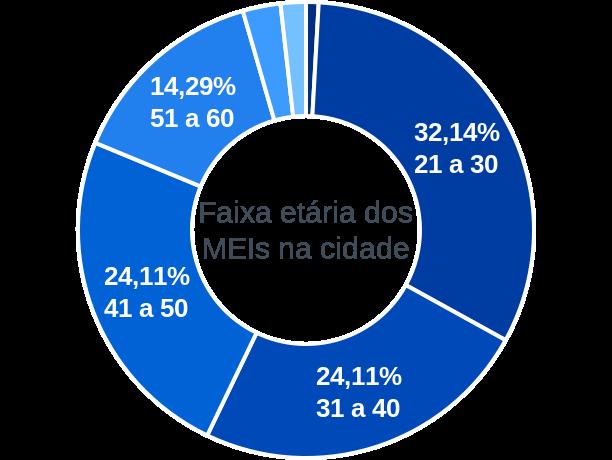 Faixa etária de MEIs na cidade de São João da Paraúna