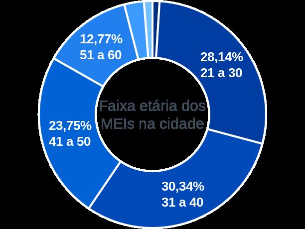 Faixa etária de MEIs na cidade de São João d'Aliança