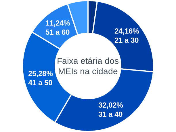 Faixa etária de MEIs na cidade de São Luiz do Norte