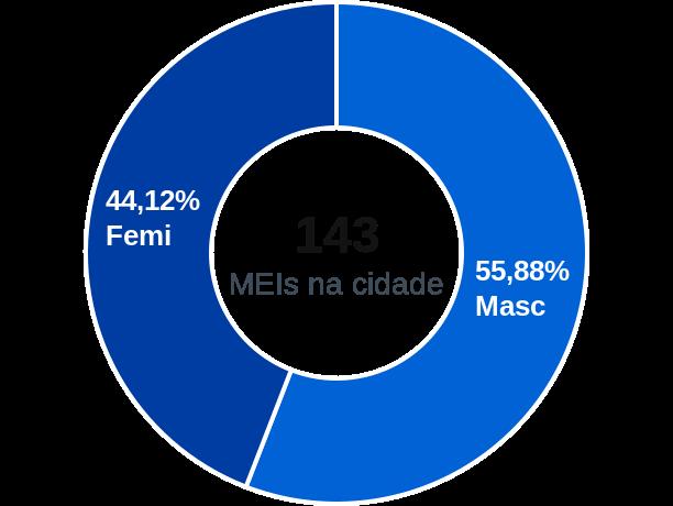 Gênero de MEIs na cidade de Teresina de Goiás