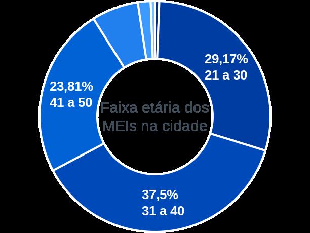 Faixa etária de MEIs na cidade de Aldeias Altas