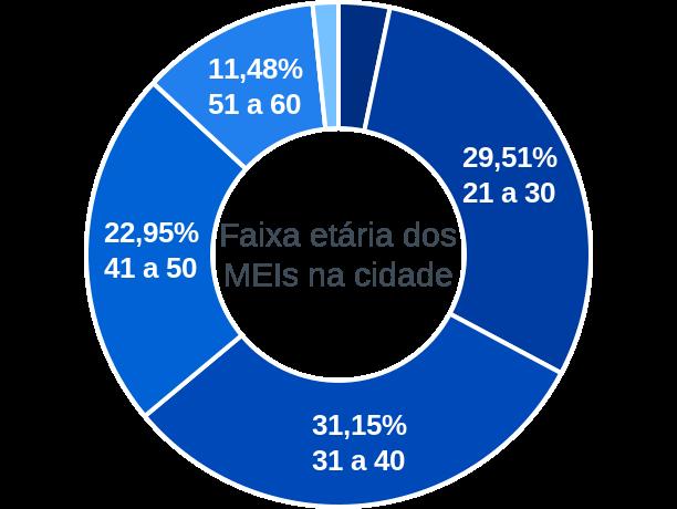 Faixa etária de MEIs na cidade de Altamira do Maranhão