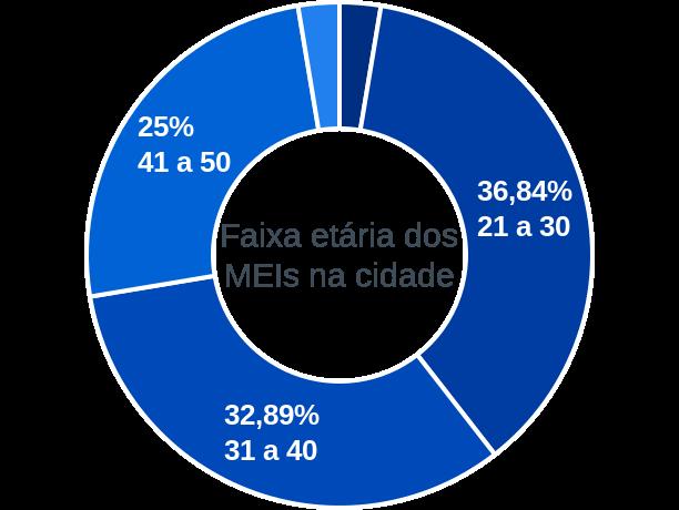 Faixa etária de MEIs na cidade de Amapá do Maranhão