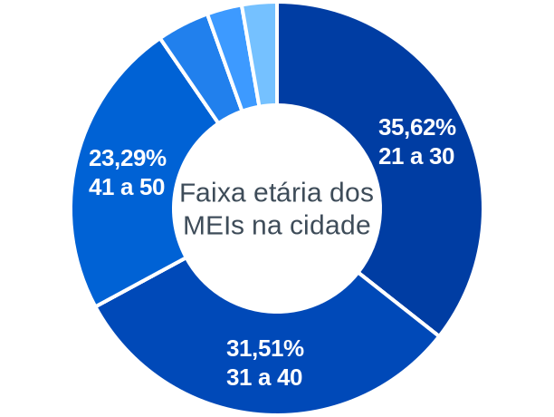 Faixa etária de MEIs na cidade de Bela Vista do Maranhão