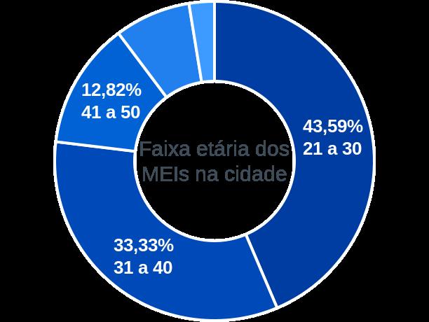 Faixa etária de MEIs na cidade de Benedito Leite
