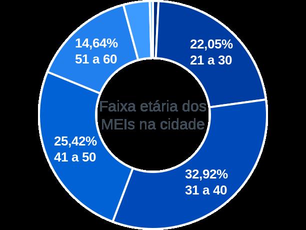 Faixa etária de MEIs na cidade de Caxias