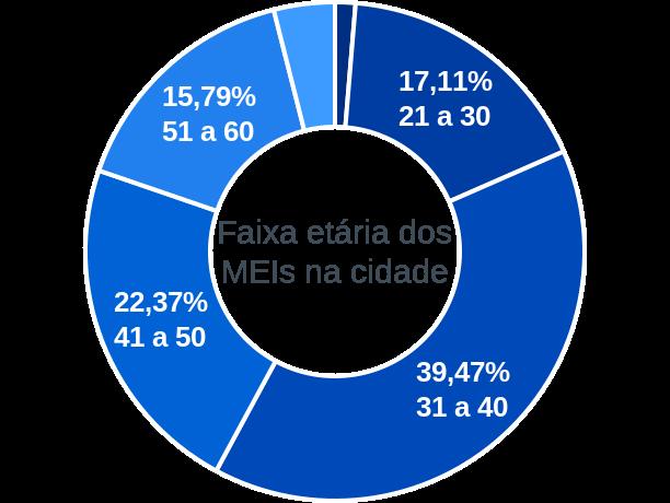 Faixa etária de MEIs na cidade de Central do Maranhão