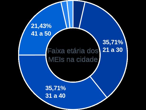 Faixa etária de MEIs na cidade de Fernando Falcão