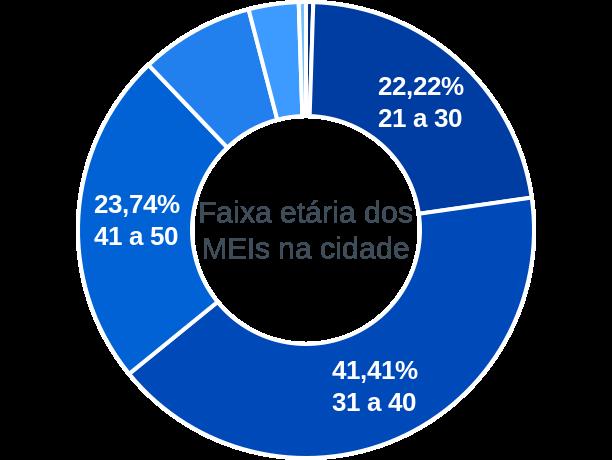 Faixa etária de MEIs na cidade de Godofredo Viana