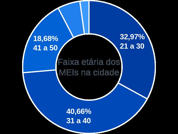 Faixa etária de MEIs na cidade de Gonçalves Dias