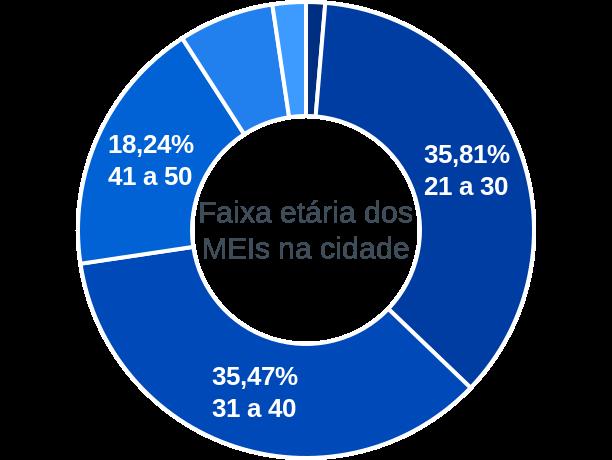 Faixa etária de MEIs na cidade de Governador Nunes Freire