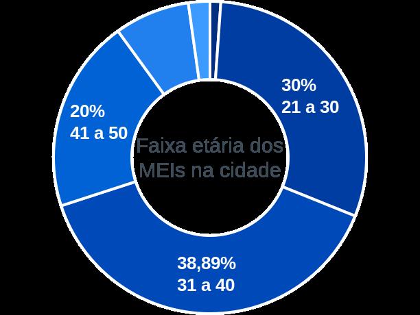Faixa etária de MEIs na cidade de Igarapé do Meio