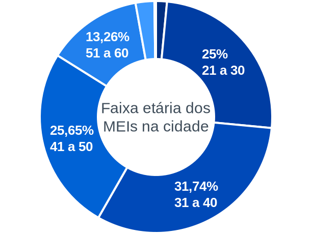 Faixa etária de MEIs na cidade de Itinga do Maranhão