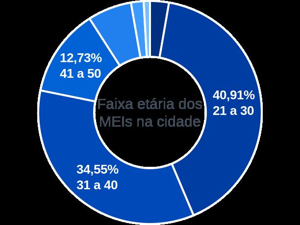 Faixa etária de MEIs na cidade de Lagoa Grande do Maranhão