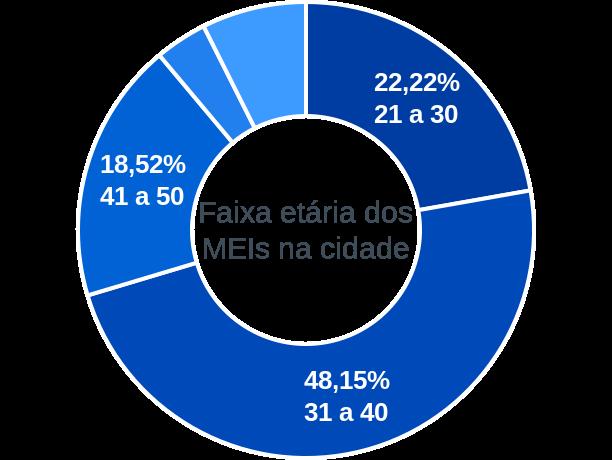 Faixa etária de MEIs na cidade de Marajá do Sena
