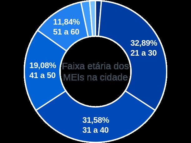 Faixa etária de MEIs na cidade de Nova Olinda do Maranhão