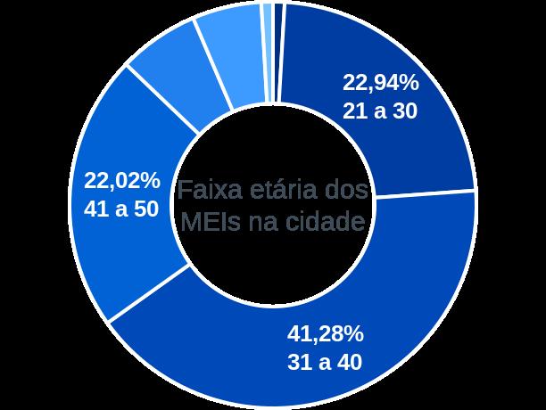 Faixa etária de MEIs na cidade de Olinda Nova do Maranhão