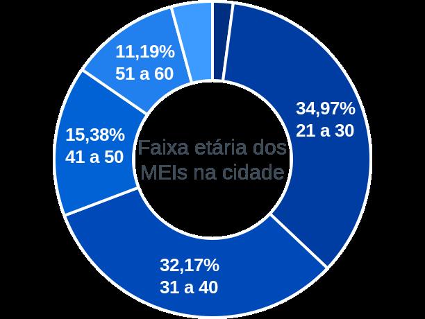 Faixa etária de MEIs na cidade de Paulo Ramos