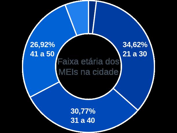 Faixa etária de MEIs na cidade de Santa Filomena do Maranhão