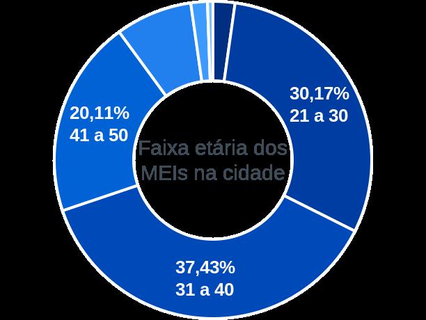 Faixa etária de MEIs na cidade de Santa Quitéria do Maranhão