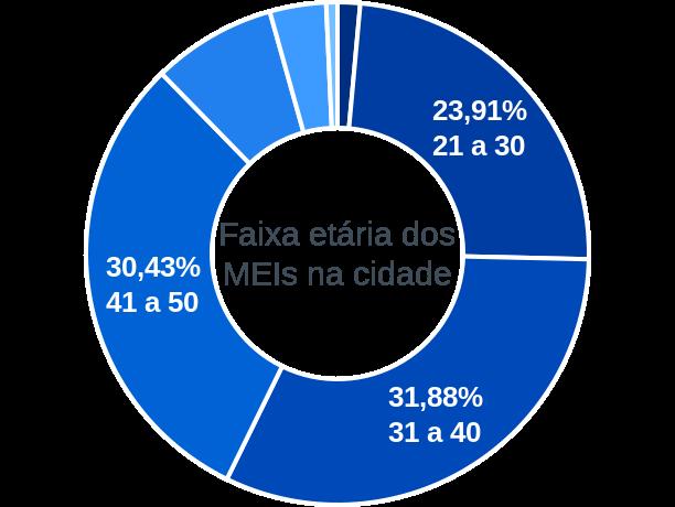 Faixa etária de MEIs na cidade de São Benedito do Rio Preto