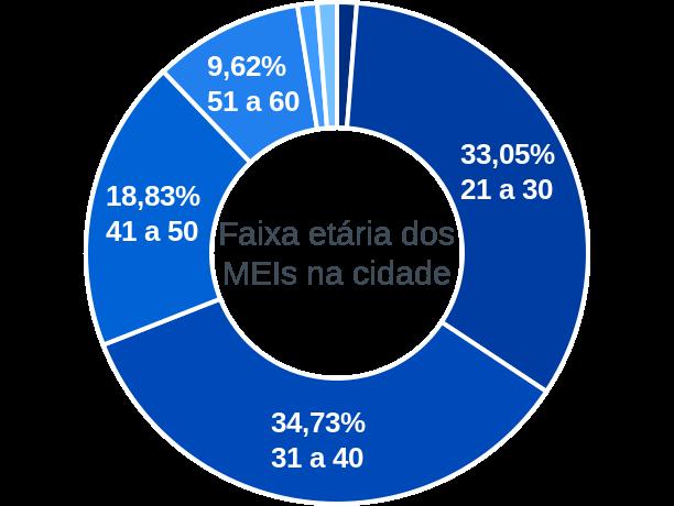 Faixa etária de MEIs na cidade de São Bernardo