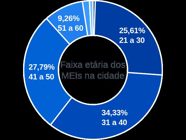 Faixa etária de MEIs na cidade de São Domingos do Maranhão