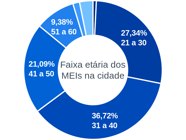 Faixa etária de MEIs na cidade de São Francisco do Maranhão