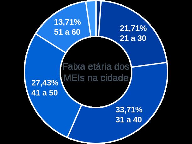 Faixa etária de MEIs na cidade de São João do Soter
