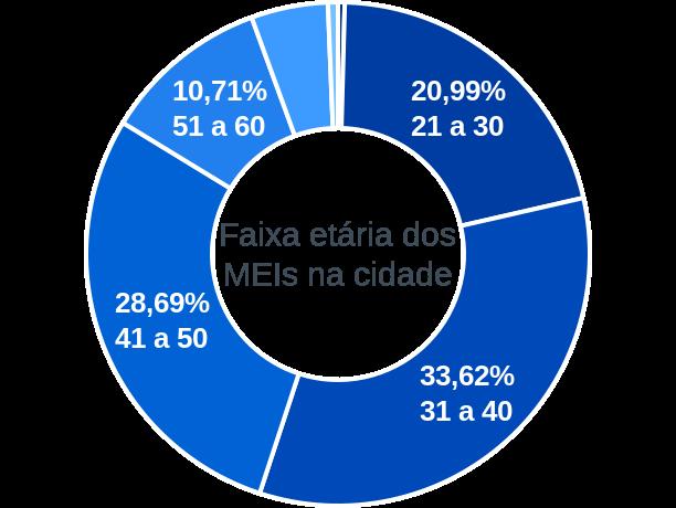 Faixa etária de MEIs na cidade de São João dos Patos