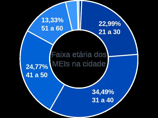 Faixa etária de MEIs na cidade de São José de Ribamar