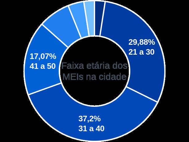 Faixa etária de MEIs na cidade de São Luís Gonzaga do Maranhão