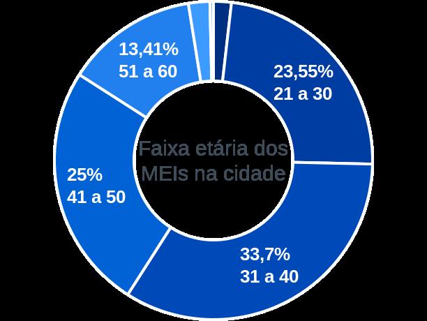 Faixa etária de MEIs na cidade de São Pedro da Água Branca