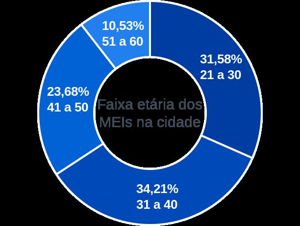 Faixa etária de MEIs na cidade de São Raimundo do Doca Bezerra