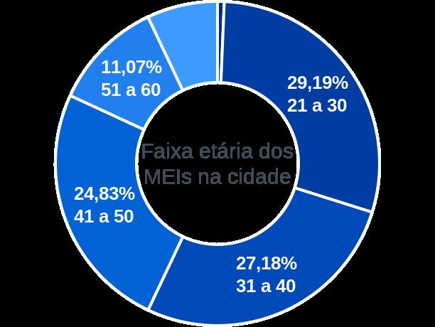 Faixa etária de MEIs na cidade de Alto Rio Doce