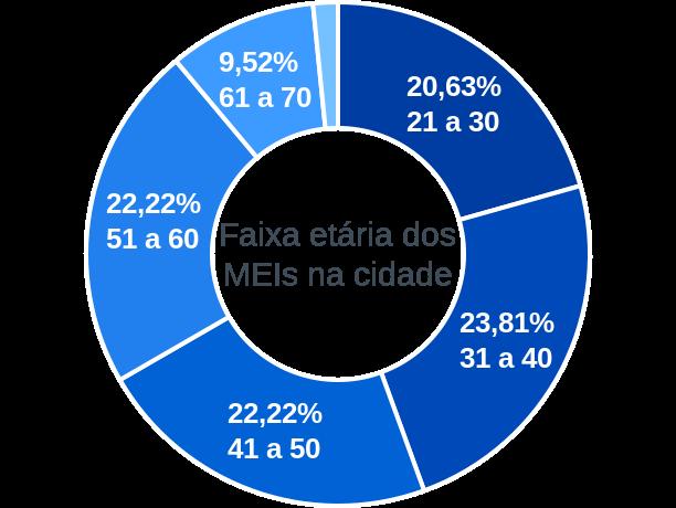 Faixa etária de MEIs na cidade de Antônio Prado de Minas