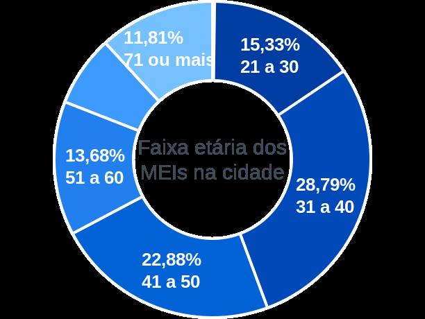 Faixa etária de MEIs na cidade de Araújos