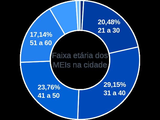 Faixa etária de MEIs na cidade de Barão de Cocais