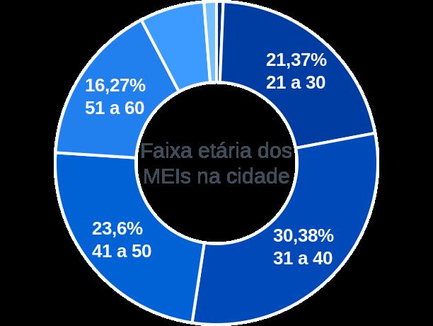 Faixa etária de MEIs na cidade de Belo Horizonte