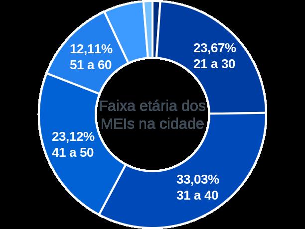 Faixa etária de MEIs na cidade de Brasilândia de Minas