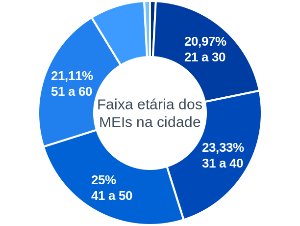Faixa etária de MEIs na cidade de Carmo da Cachoeira