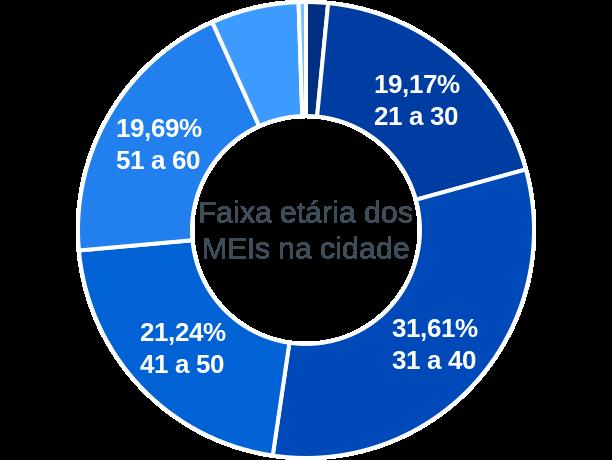 Faixa etária de MEIs na cidade de Carvalhos