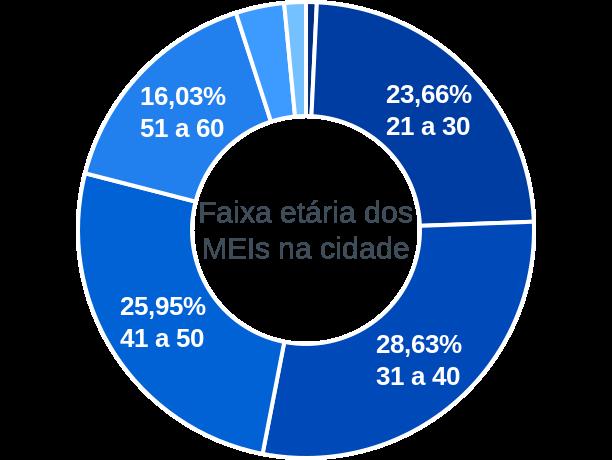 Faixa etária de MEIs na cidade de Central de Minas