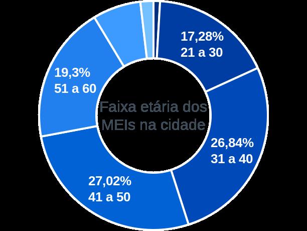 Faixa etária de MEIs na cidade de Coimbra