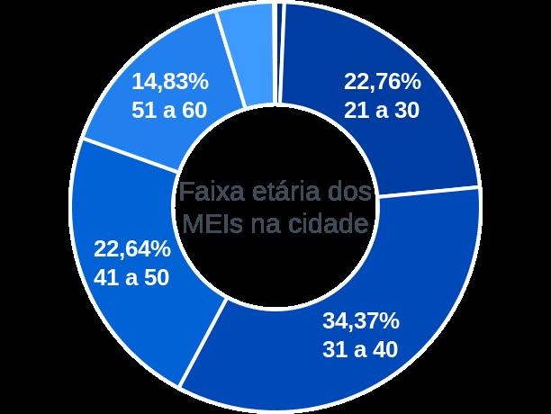 Faixa etária de MEIs na cidade de Conceição do Mato Dentro